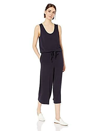 Daily Ritual Womens Supersoft Terry Sleeveless Wide-Leg Jumpsuit, Navy, X-Large