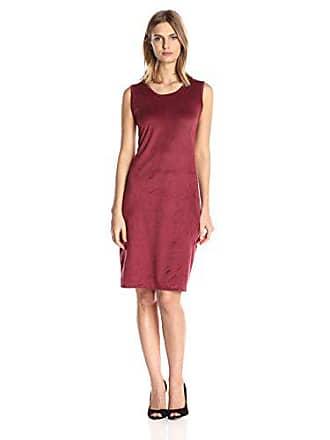Star Vixen Womens Plus-Size Sleeveless Round Neck Midi-Length Dress, Oxblood/Burgundy, 1X