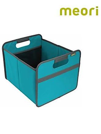 meori Azure Foldable Box Medium Blue Pantry Standard Shelf Towels Linens Shirts Shoes up to 65lbs 1-Pack