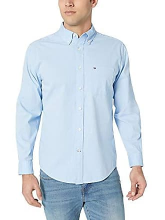 70c66d9d4 Tommy Hilfiger Mens Long Sleeve Button Down Shirt in Classic Fit,  Collection Blue, 3X