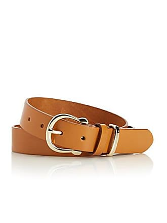 Simons Golden buckle leather belt
