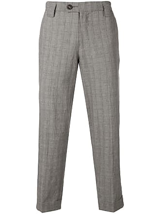 Ziggy Chen checked trousers - Black