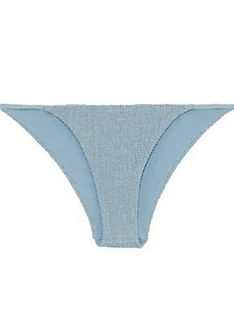 9802ec3fa96 Onia Onia Woman Rochelle Smocked Low-rise Bikini Briefs Sky Blue Size XS