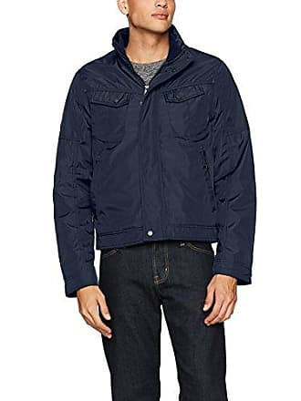 William Rast Mens Micro Tech Bomber Jacket, Navy, XX-Large