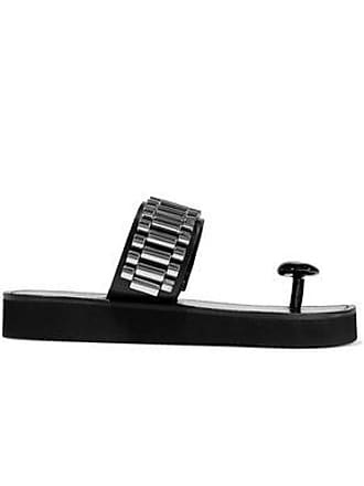 3.1 Phillip Lim 3.1 Phillip Lim Woman Chain-embellished Leather Slides Black Size 36