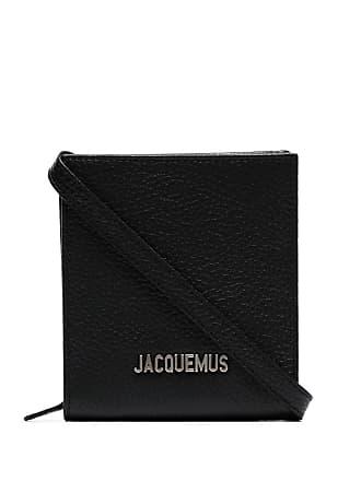 Jacquemus black leather logo plaque shoulder bag