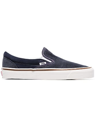 Vans navy blue and grey 98 DX corduroy slip on sneakers 28c97a4e6