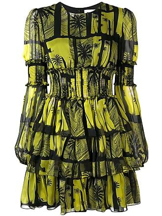 FAUSTO PUGLISI printed ruffle dress - Amarelo