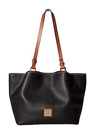 Dooney & Bourke Pebble Small Flynn (Black/Tan Trim) Handbags