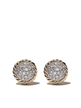 David Yurman 18kt yellow gold Petite Pavé diamond stud earrings - 88Adi