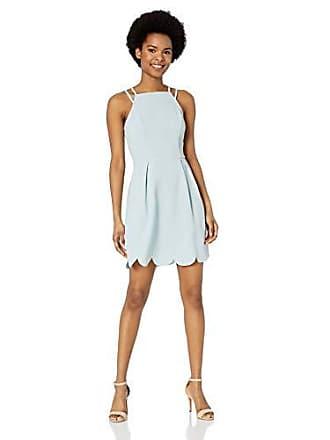 4eee0da72b4 Speechless Womens Scalloped Hem Fit   Flare Dress