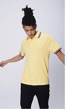 Damyller Camisa Polo Detalhe Listras Tam: PP/Cor: AMARELO