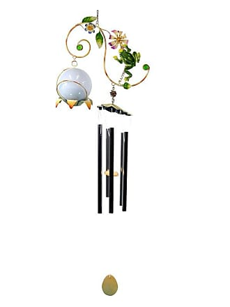 Great World Company Frog Vine Wind Chime with Solar Ball - 3021005