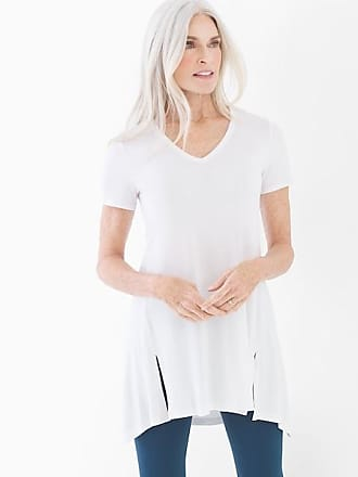 Soma Style Essentials Soft Jersey Short Sleeve Tunic Tee Bright White, Size XS
