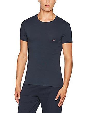 8dbe603b902f Emporio Armani Mens Iconic Logoband Crew Neck T-Shirt, Marine, M