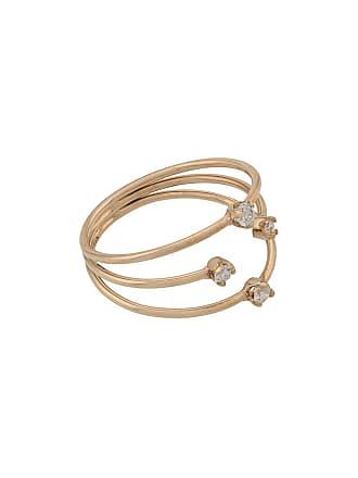 Zoë Chicco 14kt yellow gold 3 thin band mixed prong diamond ring