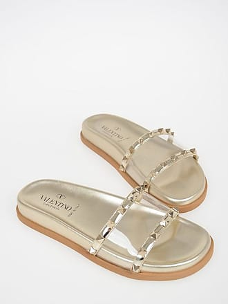 Valentino GARAVANI Leather ROCKSTUD Slides size 36