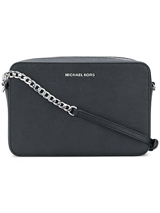 Michael Michael Kors Jet Set large cross body clutch bag - Black