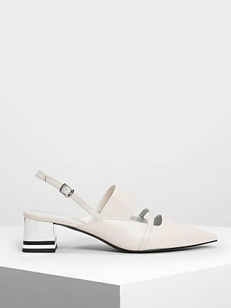 Charles & Keith Pointed Toe Slingback Heels