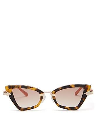 701d7b4fd6 Karen Walker Eyewear Bad Apple Slim Cat Eye Sunglasses - Womens -  Tortoiseshell