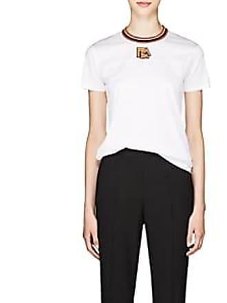 c141f203d54b Prada Womens Logo Cotton Jersey Ringer T-Shirt - White Size M