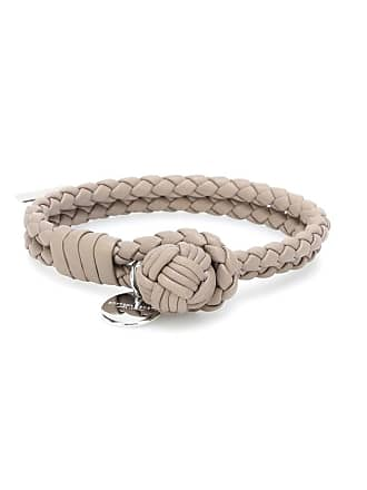 Bottega Veneta Knot intrecciato leather bracelet
