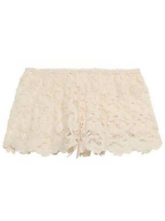 Eberjey Eberjey Woman Crocheted Cotton Shorts Ecru Size S/M