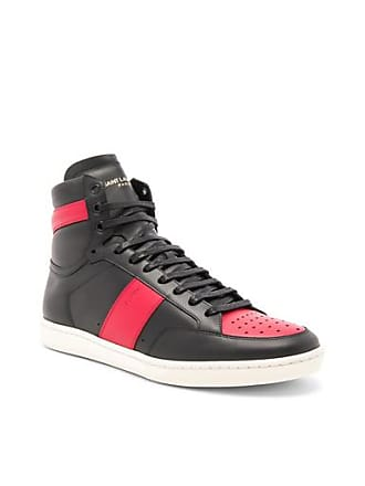 830ac4b80bf Saint Laurent Signature Court Classic SL/10H Leather High Top Sneakers in  Black