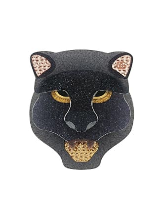 b1ccb53e381 Gucci Resin panther head brooch - Black