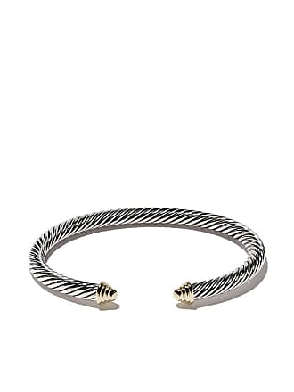 David Yurman Cable Classics sterling silver & 14kt yellow gold accented cuff bracelet - S4