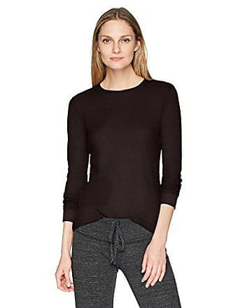 Fruit Of The Loom Womens Soft Waffle Thermal Underwear Top, Black soot, Large