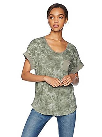 Jones New York Womens Rolled Sleeve with Patch Pocket, Light camo, M