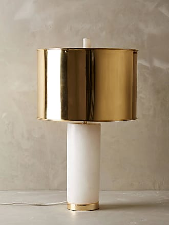Anthropologie Frosted Marble Lamp Ensemble