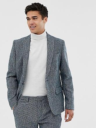 Noak Blå kostymjacka i Harris Tweed med smal passform - Blå 3a2dffe2634bb