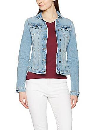 1cad2509680074 Tom Tailor Damen Jacke Blue Denim Jacket Blau (Light Stone Wash 1051)