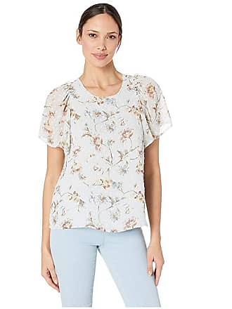 8d6a5b7bff9986 CeCe by Cynthia Steffe Extended Flutter Sleeve Duchess Floral Blouse (Pearl  Drop) Womens Blouse