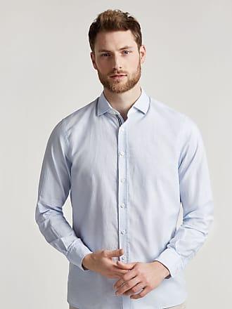 Hackett Mens Contrast Detail Stripe Cotton Shirt | Medium | Blue