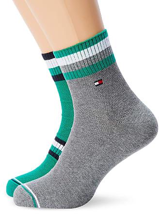 f11dd62f8 Tommy Hilfiger TH Men PETE Quarter 2P Socks, (Green Combo 164), 9