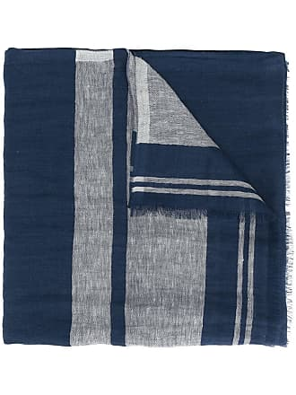 Brunello Cucinelli Echarpe com contraste - Azul
