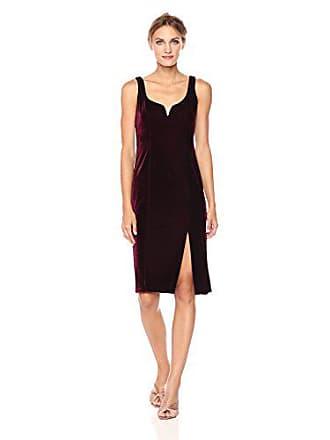 Donna Morgan Womens Juliette Sweetheart Dress with High Slit, Wine Burgundy, 12
