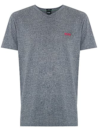 HUGO BOSS T-shirt regular fit com logo - Cinza