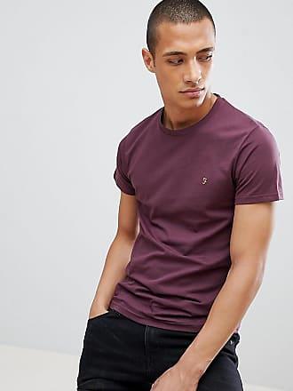 539b03438d6675 Farah Farris - Enges T-Shirt mit Logo in Burgunderrot