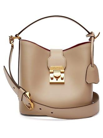 9ae7de057d89 Mark Cross Murphy Leather Bucket Bag - Womens - Beige
