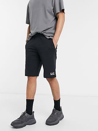 Emporio Armani Armani - EA7 Core ID - Shorts van sweaterstof met klein logo in zwart