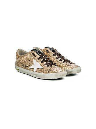 Golden Goose kids Tênis com glitter Super Star - Metálico