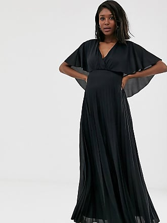 26d72102182079 Asos Maternity ASOS DESIGN Maternity cape back detail pleated maxi dress
