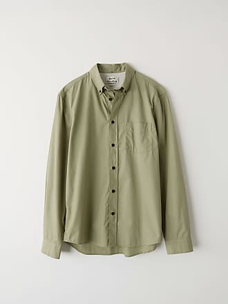 Acne Studios Isherwood Soft Pop Stone grey Classic fit shirt