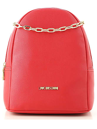 Moschino Backpack for Women On Sale, Red, polyurethane, 2017, one size