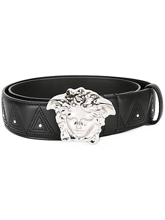 Versace Palazzo Medusa stud belt - Black