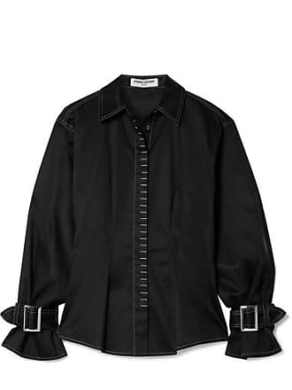 Opening Ceremony Buckled Cotton-blend Shirt - Black